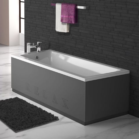 Anthracite Engraved 2 Piece adjustable Bath Panels